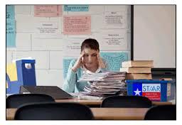 stressad lärare